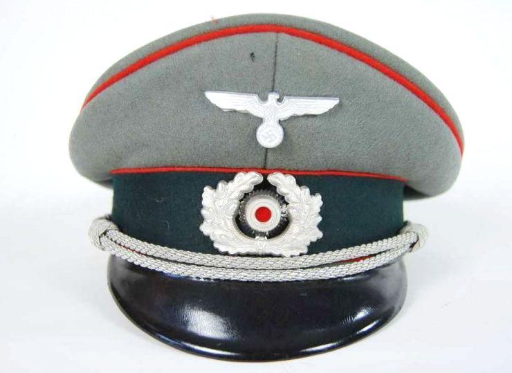 Artillería, Gorra de Plato de Oficial